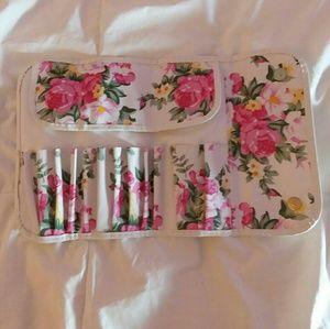 Other - floral makeup brush bag